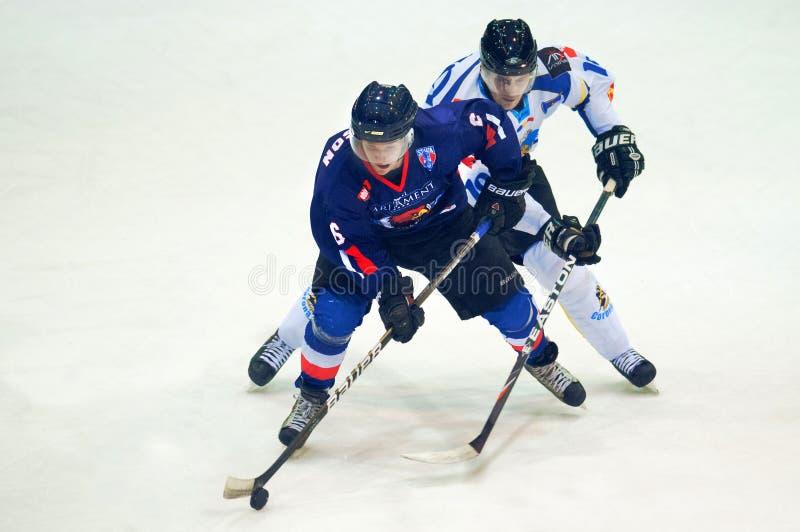 Unidentified hockeyspelare arkivbild