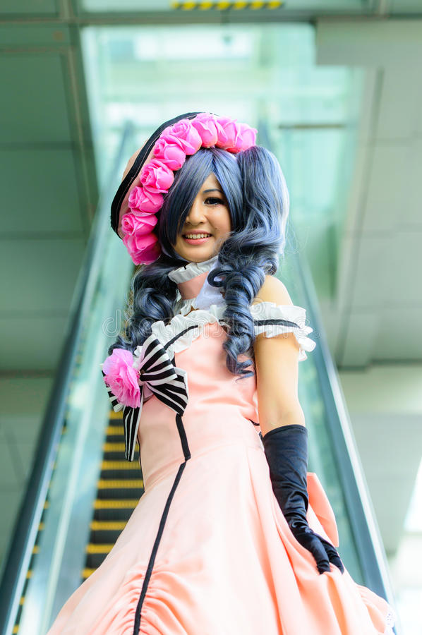 An Unidentified Japanese Anime Cosplay Pose In Japan Festa