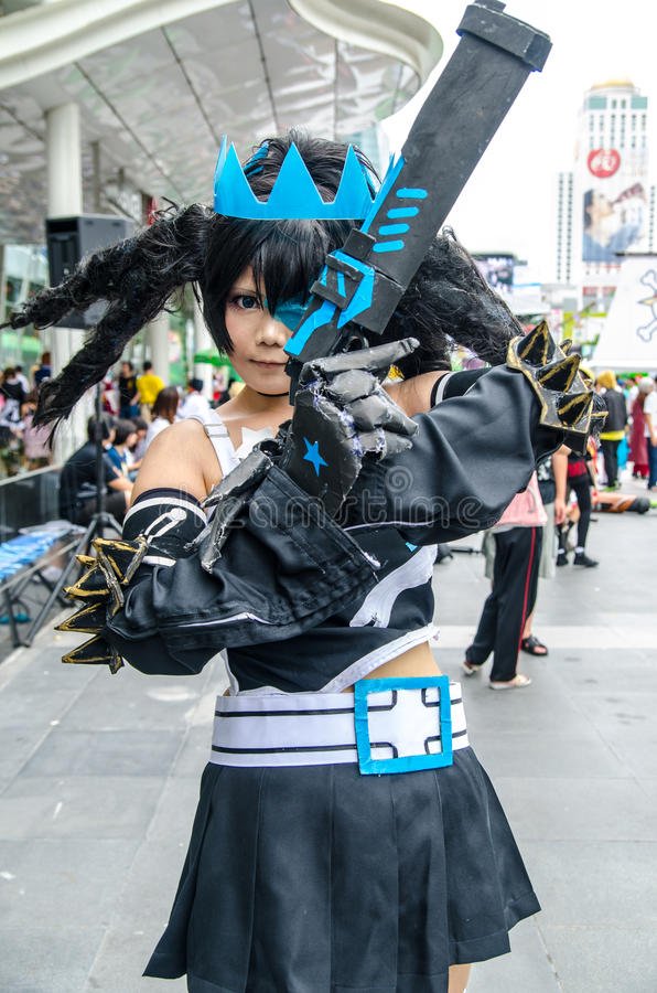 An unidentified Japanese anime cosplay pose in Oishi World Cosplay Fantastic 7 stock photos