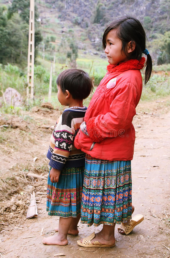 Free Unidentified Kids In Mountainous District Of Van Royalty Free Stock Photos - 36155948