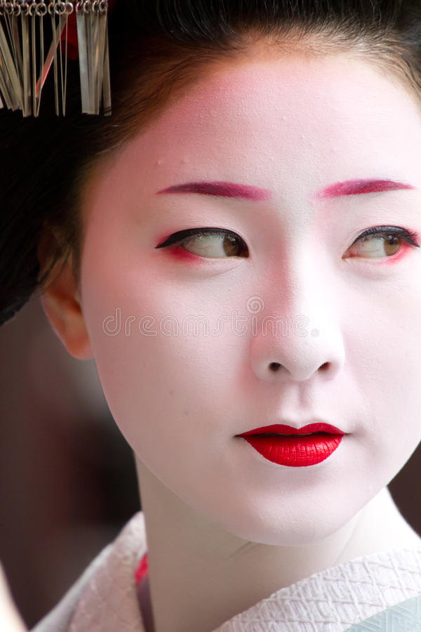Unidentified Maiko on houjoue event stock photography