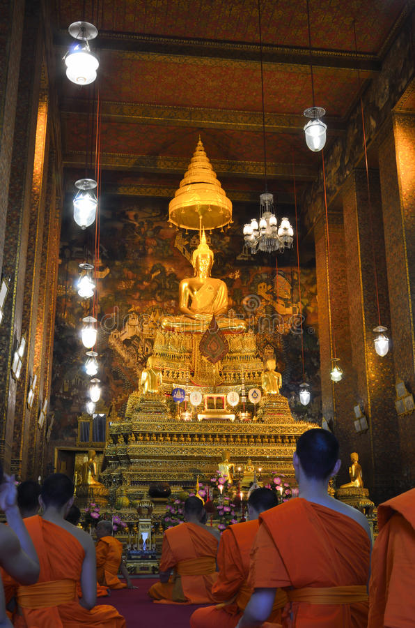 Download Unidentified Monks Pray At A Buddah Statue Editorial Photo - Image: 21345306