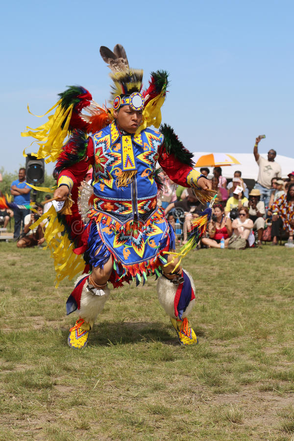 Unidentified Native American at the NYC Pow Wow in Brooklyn. NEW YORK - JUNE 8: Unidentified Native American at the NYC Pow Wow in Brooklyn on June 8, 2014. A royalty free stock photography