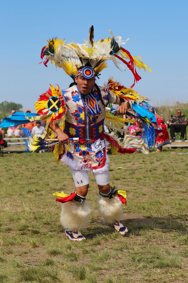Unidentified Native American at the NYC Pow Wow in Brooklyn. NEW YORK - JUNE 8: Unidentified Native American at the NYC Pow Wow in Brooklyn on June 8, 2014. A stock image
