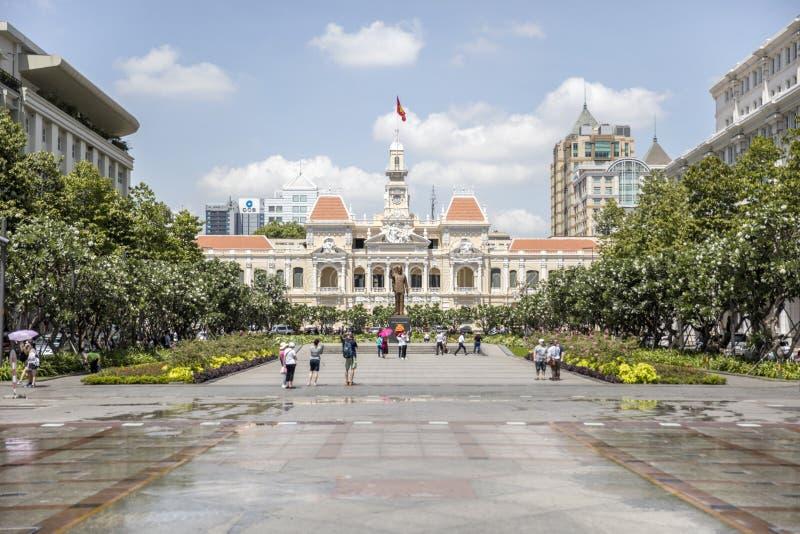 Ho Chi Minh City Hall, Vietnam stock photo