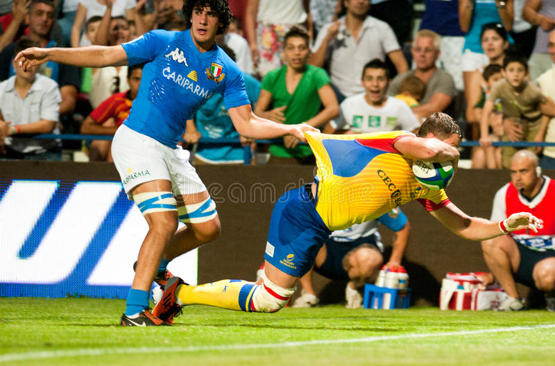 Unidentified Rugby Players Editorial Image