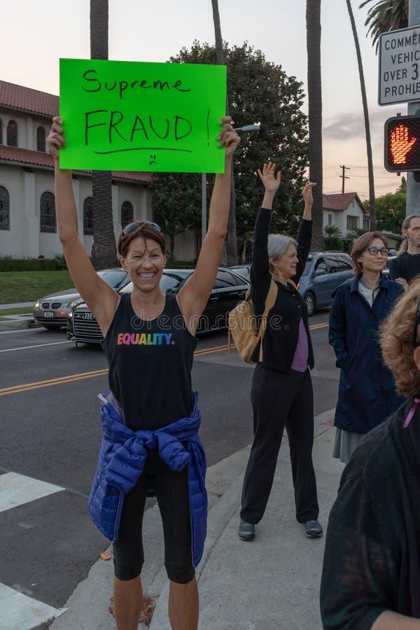 Unido contra las colinas de Bevery de la protesta de Kavanaugh imagen de archivo libre de regalías