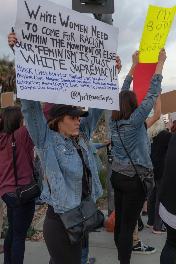 Unido contra las colinas de Bevery de la protesta de Kavanaugh foto de archivo libre de regalías
