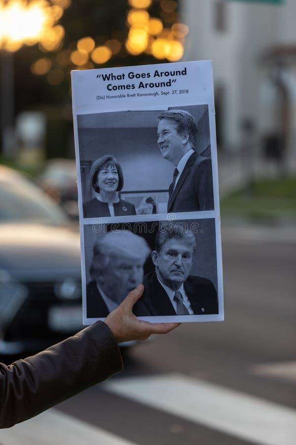 Unido contra las colinas de Bevery de la protesta de Kavanaugh fotografía de archivo libre de regalías