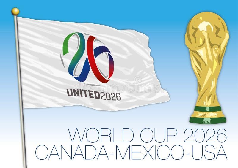 Unido 2026, fútbol del mundial ilustración del vector