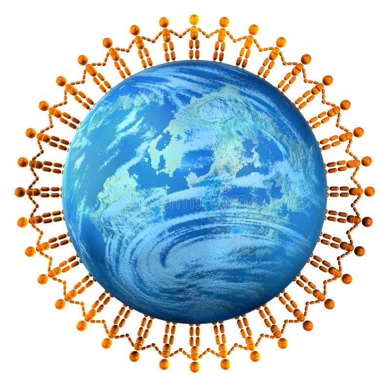 Unie 2 van mensen vector illustratie