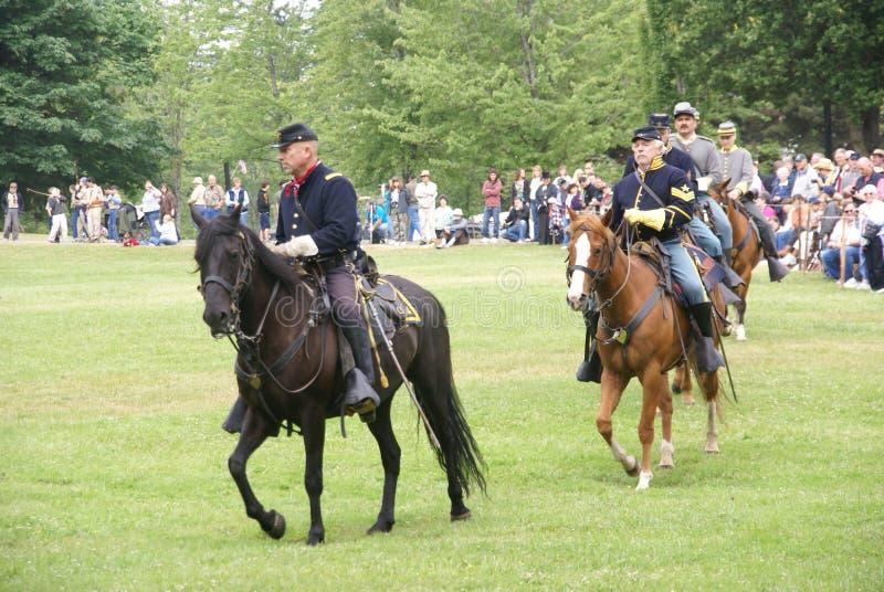 Unie en Verbonden cavalerie stock afbeelding