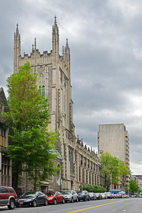 Unie Theologisch Seminarie 1836 en Barnard College Claremontweg, Broadway, Manhattan stock foto