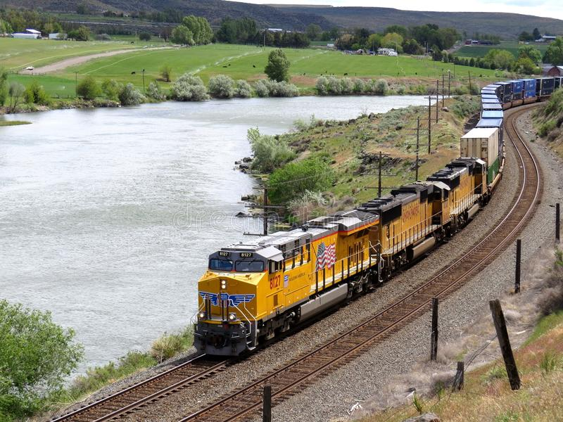 Unie Vreedzame Spoorweg royalty-vrije stock afbeeldingen