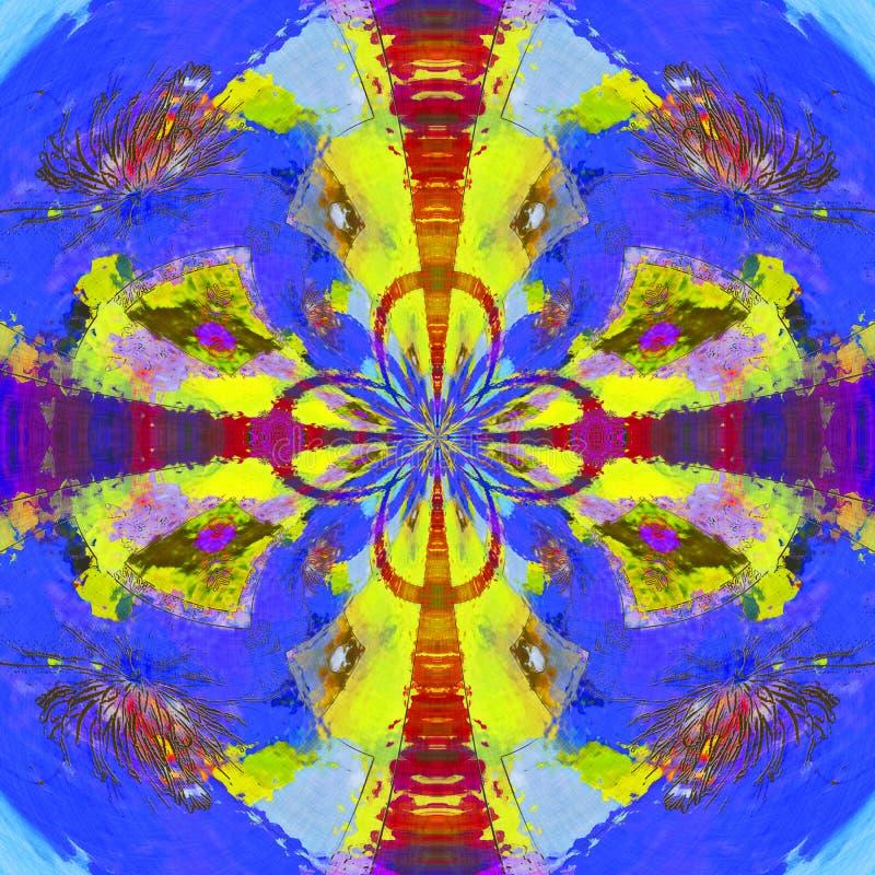 Uniek Abstract Art Background Illustration stock foto's