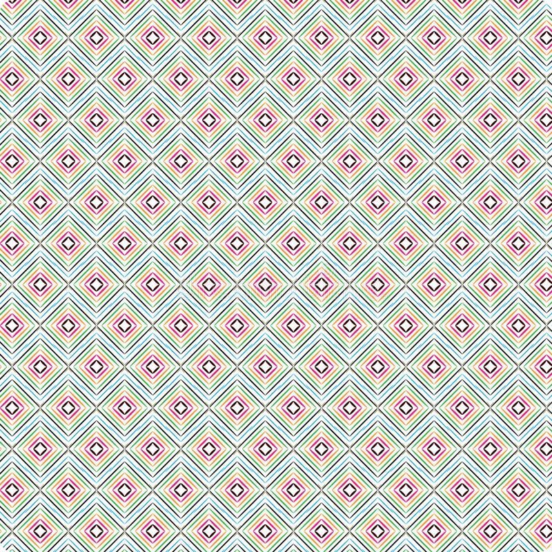 Uniek Argyle Colorful Scribble Native Ethnic Helder Diamond Seamless Pattern Background vector illustratie