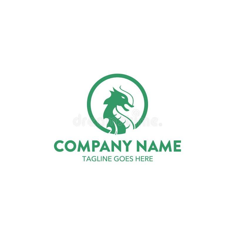 Uniek Dragon Logo royalty-vrije illustratie