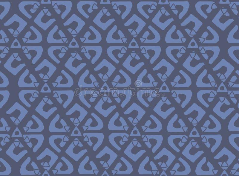 Uniek Geometrisch Vector Naadloos die Patroon in etnische stijl wordt gemaakt Azteekse textieldruk royalty-vrije illustratie