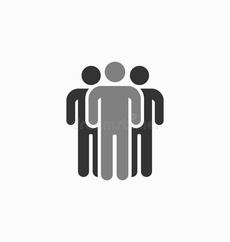 Uniek het pictogram vectorteken van het mensensilhouet Verschillende, speciale perso royalty-vrije illustratie