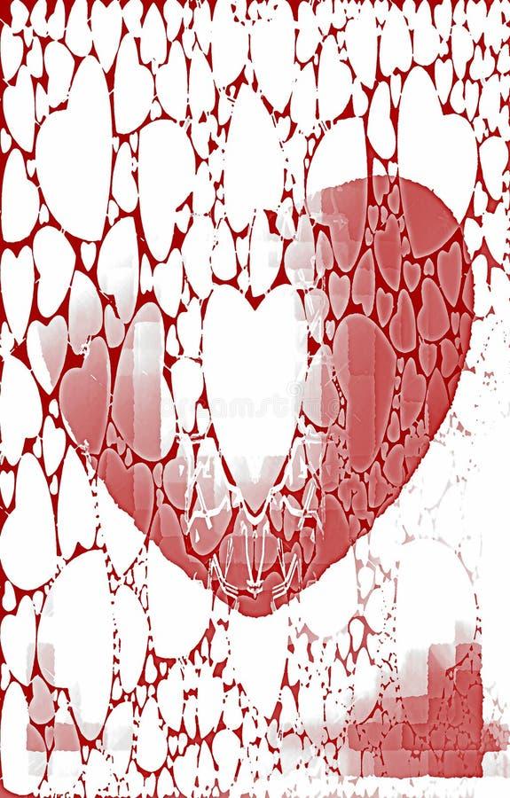 Uniek rood patroon op een witte achtergrond Olieverfeffect vector illustratie