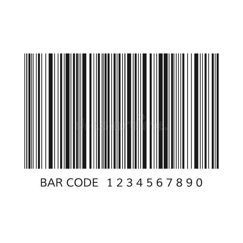Uniek streepjescodemalplaatje Gestreepte identificatieinformatie over product Vector illustratie die op witte achtergrond wordt g vector illustratie
