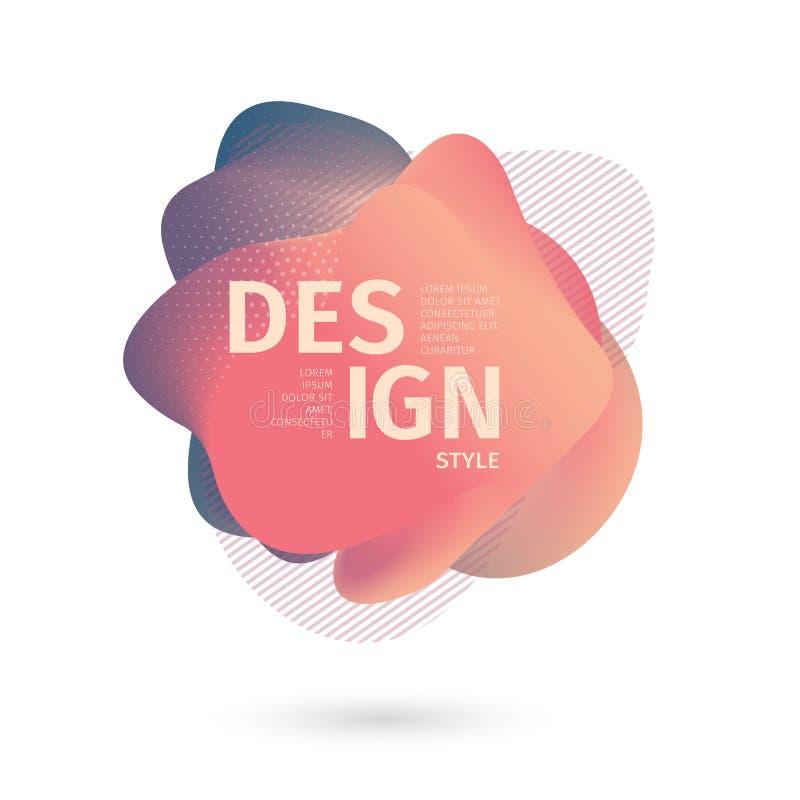 Unieke abstracte grafische elementen Banner met een gradiëntvorm Ontwerpmalplaatje voor presentatie of vlieger Samenvatting royalty-vrije illustratie