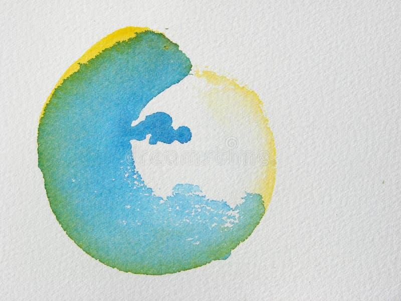 Unieke Abstracte waterverfachtergrond stock illustratie