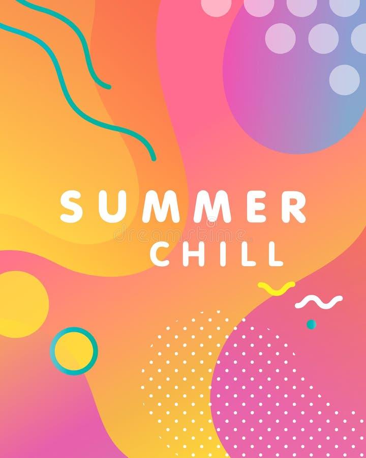 Unieke artistieke ontwerpkaart - de zomerkou vector illustratie