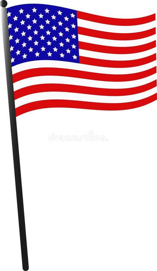 Unieke ceremoniële Amerikaanse vlag royalty-vrije stock afbeelding