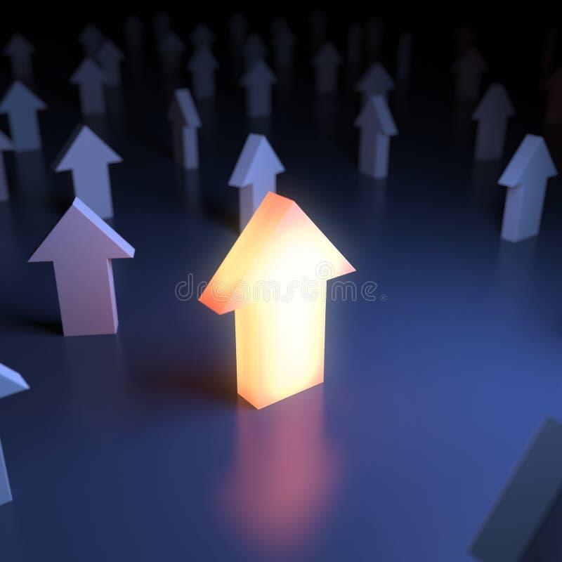Unieke lichtgevende wijzer vector illustratie