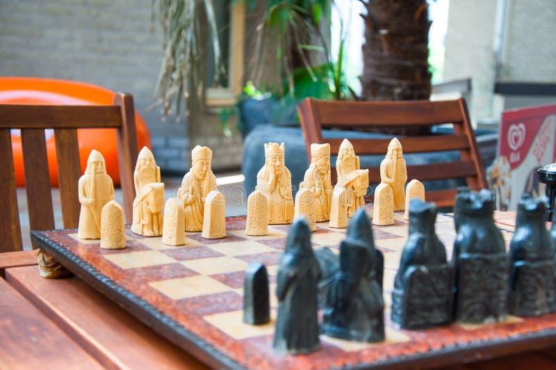 Unieke Met de hand gemaakte WasSchaakstukken royalty-vrije stock afbeeldingen