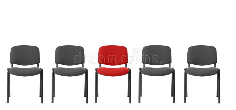 Unieke rode stoel stock afbeelding