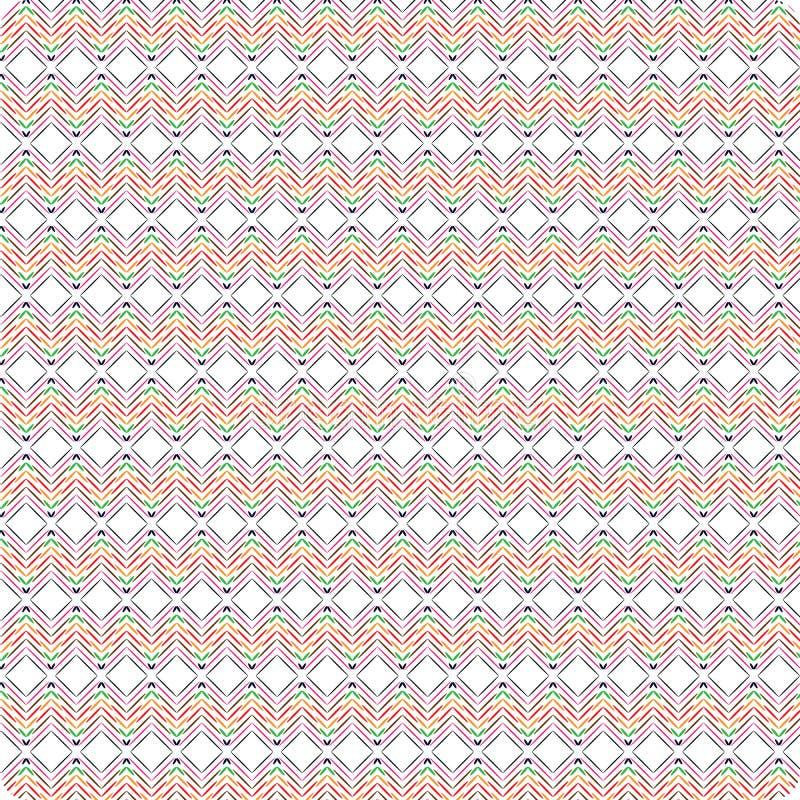 Unieke Ronde Kleurrijke Abstracte Naadloze het Patroonachtergrond van de Gekrabbel Inheemse Stijl vector illustratie