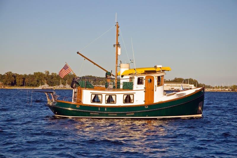 Unieke sleepbootboot stock foto's