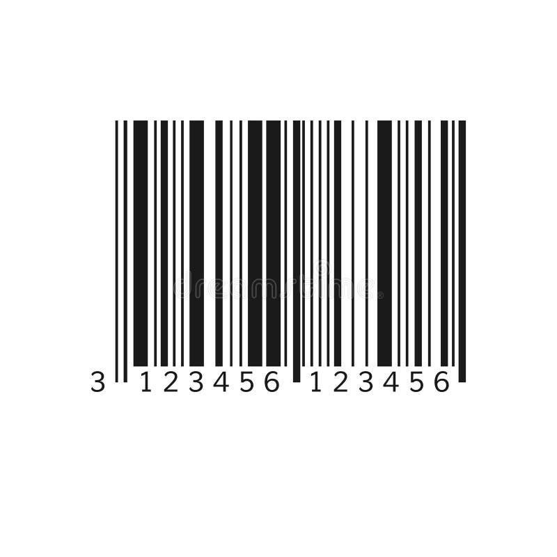 Unieke streepjescode Gestreepte identificatieinformatie over product Vector illustratie die op witte achtergrond wordt ge?soleerd vector illustratie