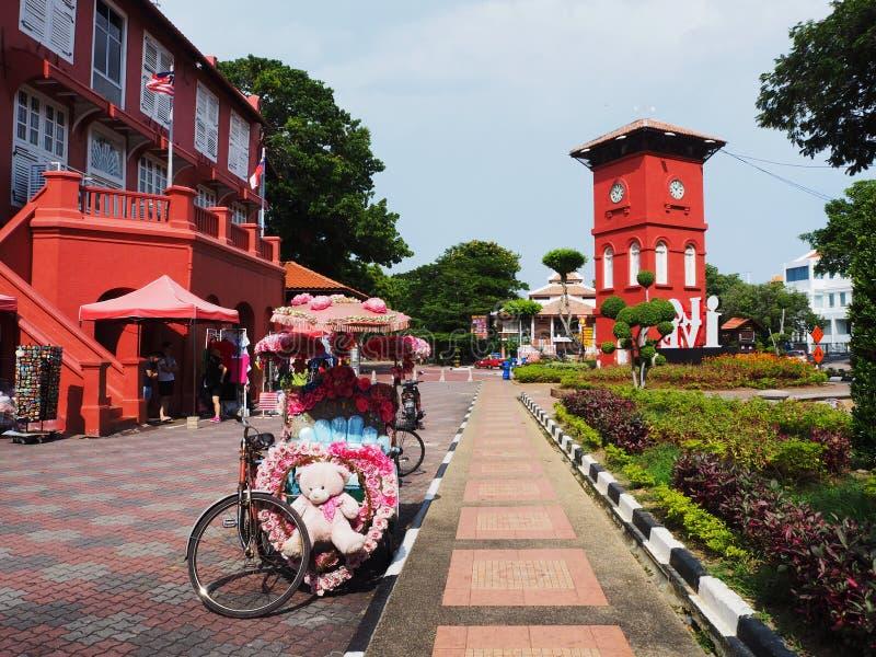 Unieke Verfraaide Driewieler in Melaka, Maleisië royalty-vrije stock afbeelding