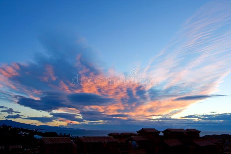 Unieke wolkenvormingen in Spanje stock foto