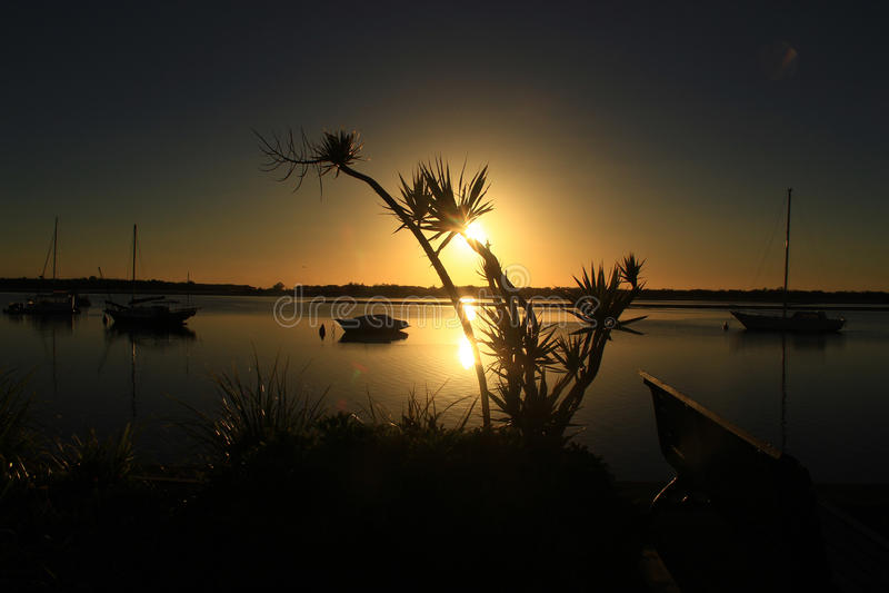Unieke zonsopgang stock foto
