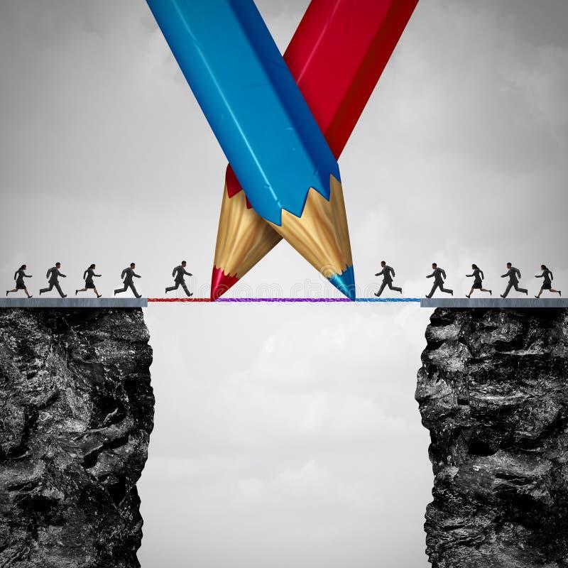Uniendo un puente ilustración del vector