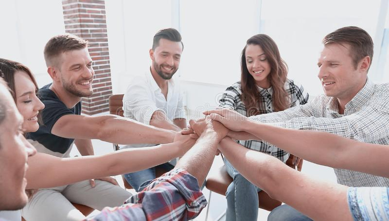 Unified business team.the concept of teamwork stock photo