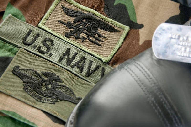 Uniform der Marine DICHTUNG stockfoto
