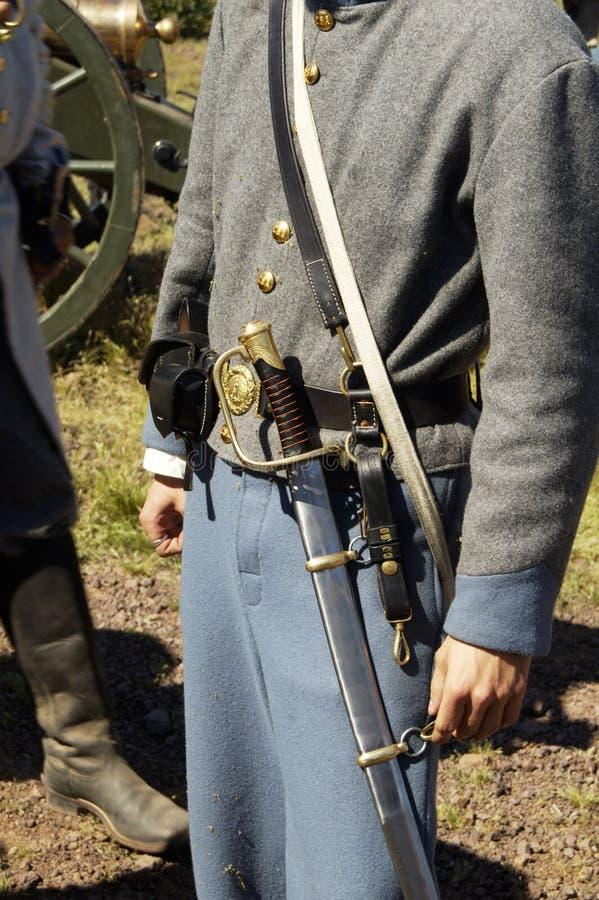 Uniforme 1 de guerre civile images libres de droits