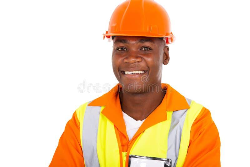 Uniforme africano del trabajador foto de archivo