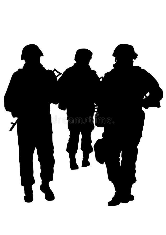 Uniforme cinco dos soldados ilustração royalty free