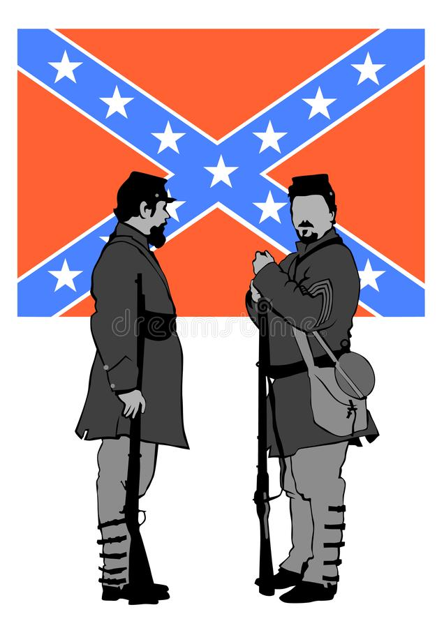 Uniforme da guerra civil dois ilustração do vetor