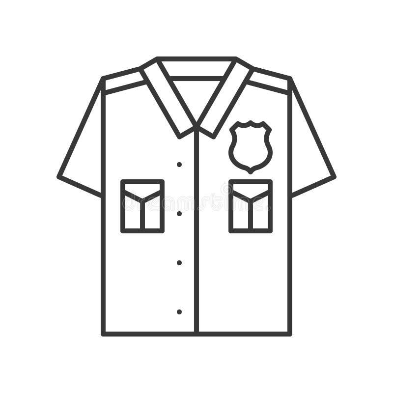 Uniforme de la policía, movimiento editable del esquema relacionado del icono de la policía stock de ilustración