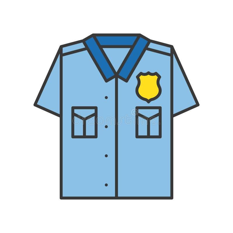 Uniforme de police, course editable d'ensemble relatif d'icône de police illustration libre de droits