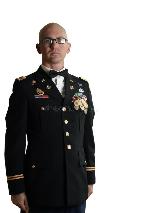 Uniforme de robe d'officier de l'armée américain images libres de droits