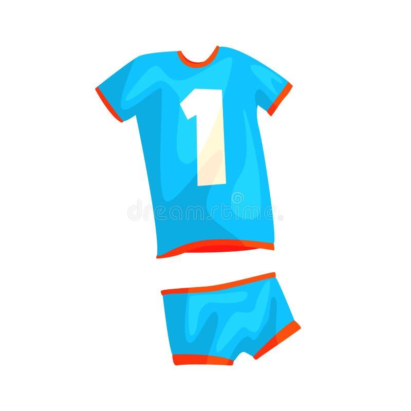 Uniforme de volleyball pour l'homme ou la femme dans le style plat illustration stock