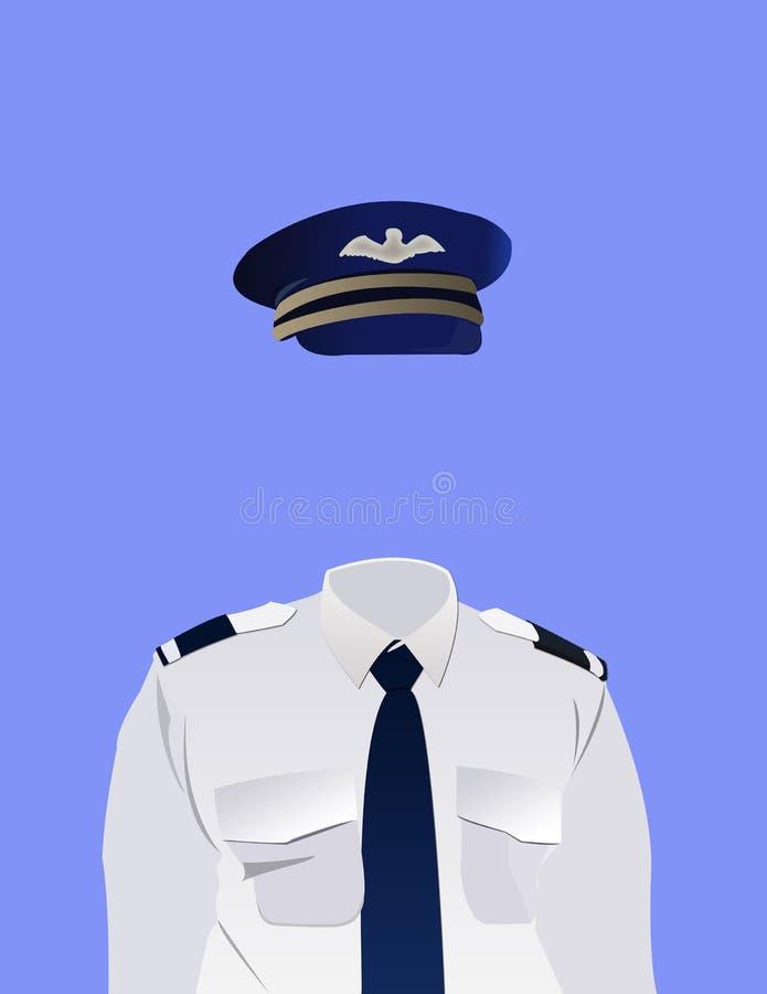 Uniforme del piloto stock de ilustración
